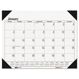 House of Doolittle - Workstation-Size One-Color Monthly Desk Pad Calendar, 18-1/2 x 13 -  2016