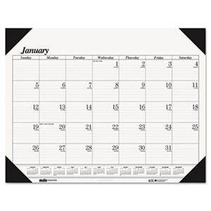 House of Doolittle - One-Color Refillable Monthly Desk Pad Calendar, 22 x 17 -  2016