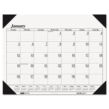 House of Doolittle - One-Color Refillable Monthly Desk Pad Calendar - 22 x 17 - 2014