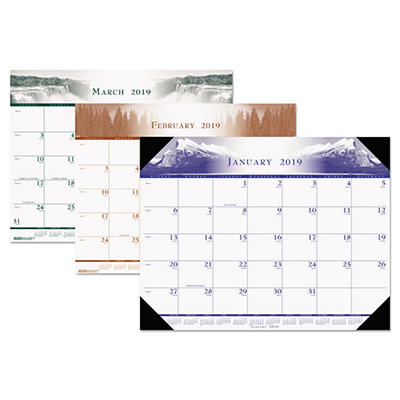 House of Doolittle - One-Color Photo Monthly Desk Pad Calendar, 22 x 17 -  2015