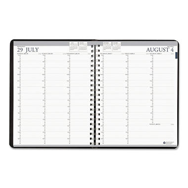 House of Doolittle Professional Academic Weekly Planner, 8 1/2 x 11, Black, August 2016 - July 2017