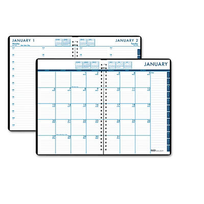 House of Doolittle 24/7 Daily Appointment Book/Monthly Planner, 7 x 10, Black -  2015