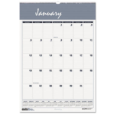 House of Doolittle Bar Harbor Wirebound Monthly Wall Calendar, 22 x 31 1/4, 2017