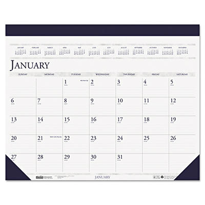 House of Doolittle Two-Color Refillable Monthly Desk Pad Calendar, 22 x 18 -  2015