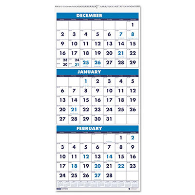 House of Doolittle - Three-Month Format Wall Calendar, 12-1/4 x 26 -  2014-2016