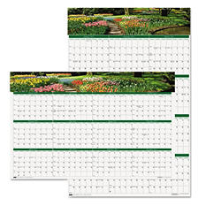 House of Doolittle Gardens of the World Reversible/Erasable Wall Calendar, 24 x 37 -  2015