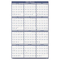 House of Doolittle Poster Style Reversible/Erasable Yearly Wall Calendar, 24 x 37, 2017