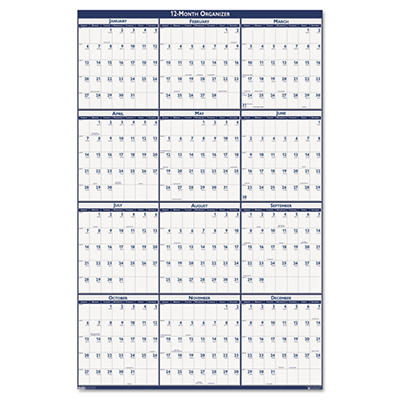 House of Doolittle - Poster Style Reversible/Erasable Yearly Wall Calendar, 24 x 37 -  2015