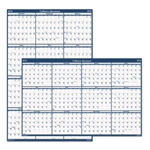 House of Doolittle - Laminated Write-On/Wipe-Off Jumbo Yearly Wall Calendar, 66 x 33 -  2016