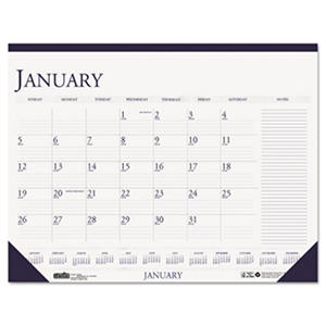 House of Doolittle - Two-Color Monthly Desk Pad Calendar w/Large Notes Section, 22 x 17 -  2016