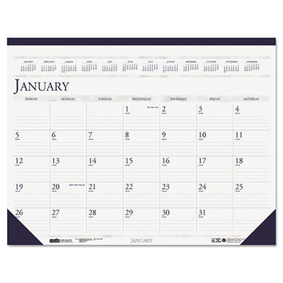 House of Doolittle - Two-Color Monthly Desk Pad Calendar, 22 x 17 -  2015