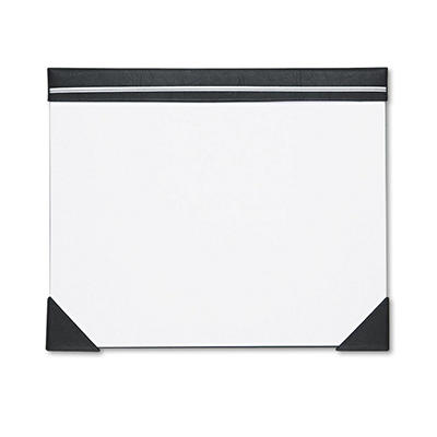 House of Doolittle Executive Doodle Desk Pad, 25 Sheet White Pad, Refillable, 22 x 17 -  Black/Silver