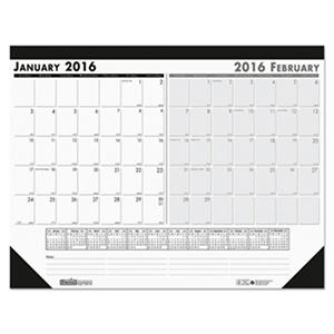 House of Doolittle - Two-Month Desk Pad, 22 x 17 -  2016
