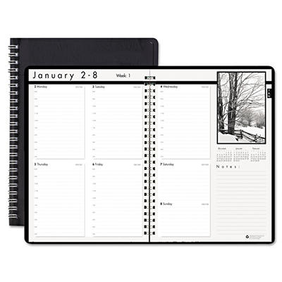House of Doolittle Weekly Planner w/Black-&-White Photos, 8-1/2 x 11, Black -  2015