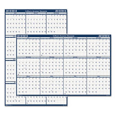 House of Doolittle Poster Style Reversible/Erasable Academic Yearly Calendar, 24 x 37 -  2014-2015