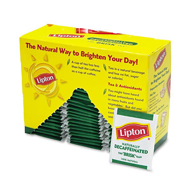 Lipton� Decaffeinated Tea Bags - 72 bags