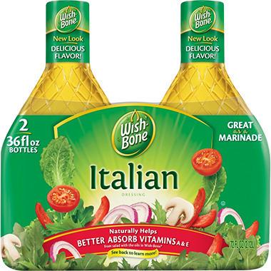 Wish-Bone® Italian Dressing - 36 oz.  - 2 ct.