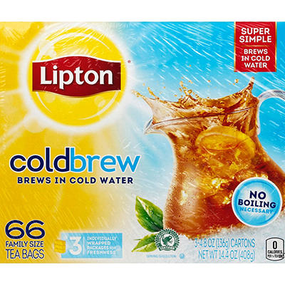 Lipton® Cold Brew Iced Tea - 66 ct.
