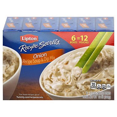 Lipton® Onion Recipe Soup & Dip Mix - 2 oz. - 6 ct.