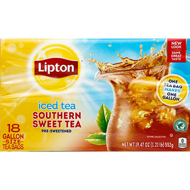 Lipton Southern Sweet Tea - One Gallon Size Tea Bags - 18 ct.