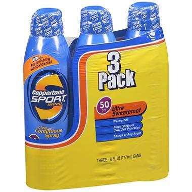 Coppertone Sport Continuous Spray SPF50 -3/6 oz.