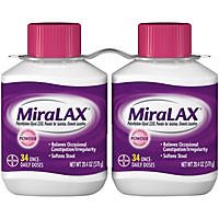 Miralax Twin Pack (2 Bottles x 34 Doses)