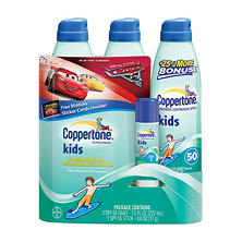 Coppertone Kid's Sunscreen Multi-pack (7.5 fl. oz., 3 pk + .6 oz. Kids Stick)