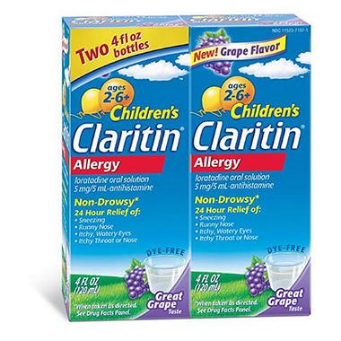 Claritin Children's Allergy - 4 oz. bottles - 2 pk.