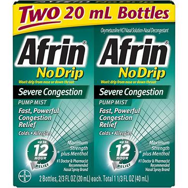Afrin® No Drip Severe Congestion - 2/20ml