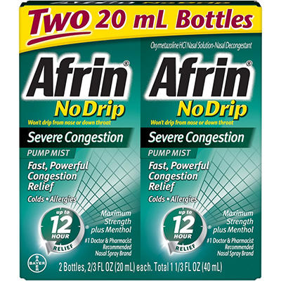 Afrin® No Drip Severe Congestion - 2/20ml