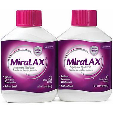 MiraLAX Laxative - 30 ct. - 2 pk.