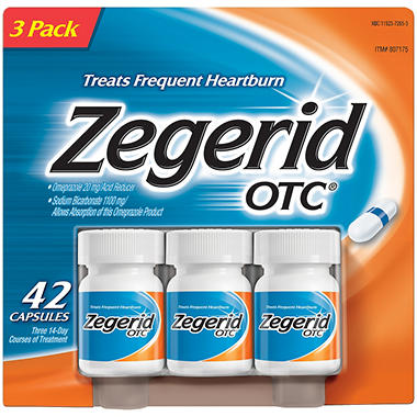 Zegerid OTC? Heartburn Medication  - 42 ct.