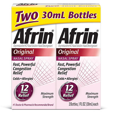 Afrin Original Nasal Spray 12HR - 30ML - Twin Pack