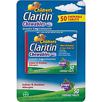 Children's Claritin Chewables Tablets, Grape (50 ct.)