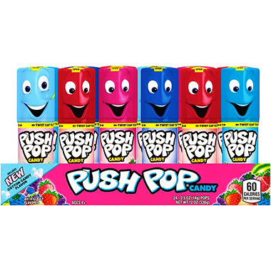 Push Pop Assorted Flavors - 24 ct.