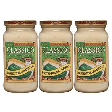 Classico® Roasted Poblano Alfredo Sauce - 3/15 oz.