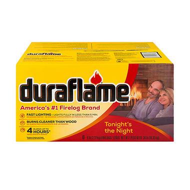 Duraflame Xtra All-Natural 4 Hour Firelogs - 6 lbs. each - 6 ct.