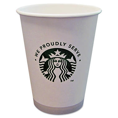 "Starbucks Cups - ""We Proudly Serve"" - 12 oz. Paper Coffee Cups - 1000 ct."