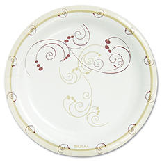 "Solo Symphony Paper Dinnerware, Medium weight Plate, 8 1/2"", Tan -  500/Carton"