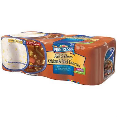 Progresso® Soup Rich & Hearty Chicken & Beef Favorites  8 -19 oz cans