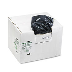 Earthsense Commercial - Recycled Can Liners, 45gal, 1.8mil, 40 x 46, Black -  100/Carton