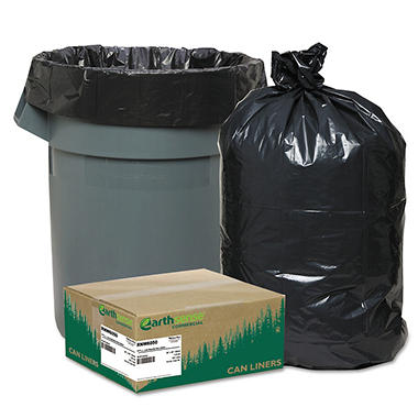 EarthSense Recycled Can Liners - 55-60 gal - 100 ct.