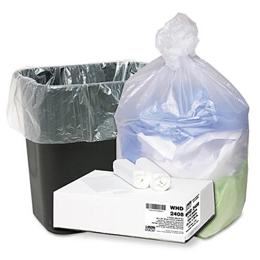 Webster - Ultra Plus High-Density Can Liners, 7-10 Gallon, Clear - 1,000 Bags