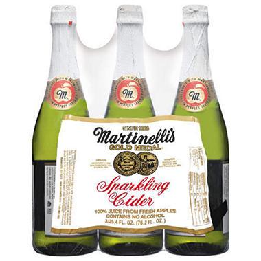 Martinelli's Gold Medal Sparkling Cider - 25.4 oz. - 3 pk.