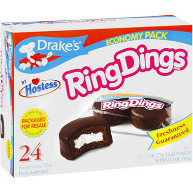 Hostess® Drake's® Ring Dings® - 12/2.7 oz.
