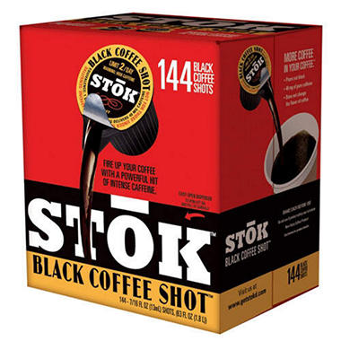 STOK™ Black Coffee Shot - 144ct
