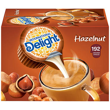 International Delight Hazelnut Coffee Creamer Singles - 192 ct.