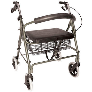 Extra Wide Rollator - Brushed Grey