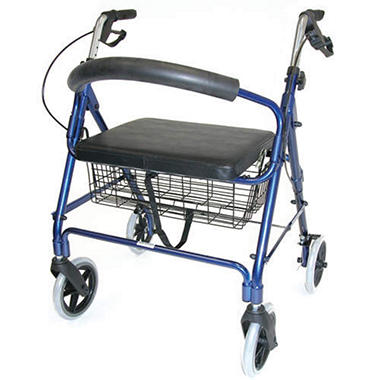 Extra Wide Rollator - Blue