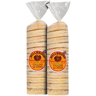 Millbrook® Original Recipe English Muffins Twin Pack - 12 ct. - 2 ct.